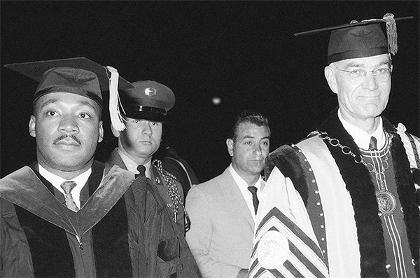 Dr. Martin Luther King, Jr. with CCNY President Buell Gallagher, June 12, 1963.