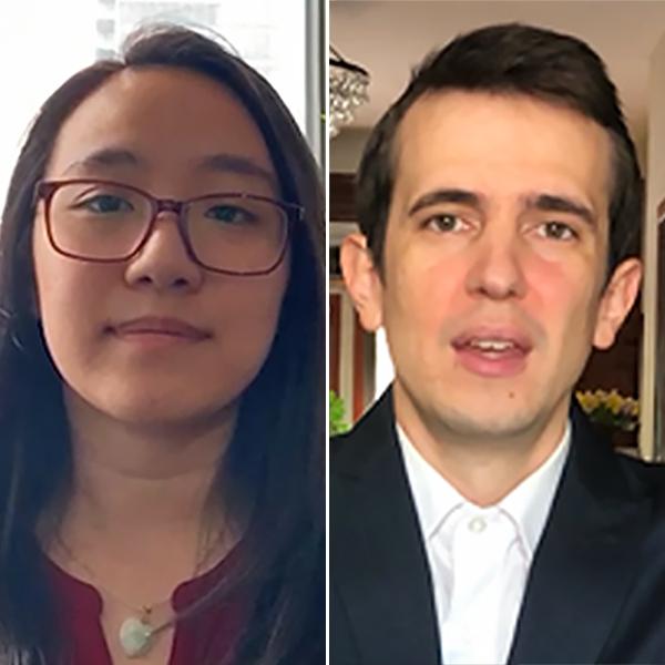 Scholarship recipients Lucy Lao and Nicholas Fosmire