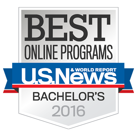 US News Badge for Best Online Bachelor's Programs 2016
