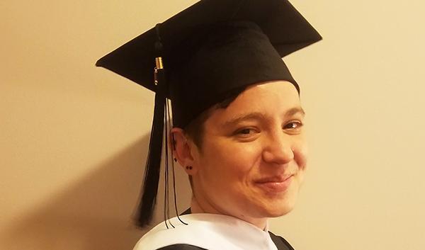 Elizabeth Rubel cap and gown graduation photo