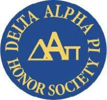 Delta Alpha Pi Honor Society blue flyer