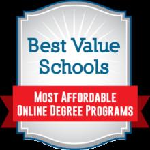 Badge Best Value School Most Affordable Online Degree Programs
