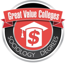 Great value colleges sociology degrees badge