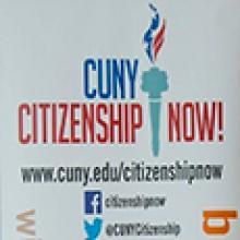 CUNY CitizenshipNow logo and social media icons