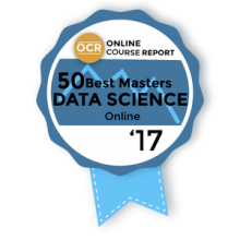 "alt=""Online Course Report 50 Best Online Master's in Data Science 2017"""