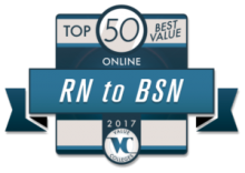 "alt=""Value Colleges Top 50 Best Value Online RN to BSN Programs 2017 """