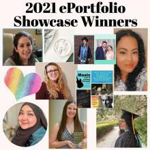 2021 ePortfolio Showcase collage