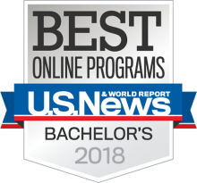 2018 Best Bachelor's Degree Program badge