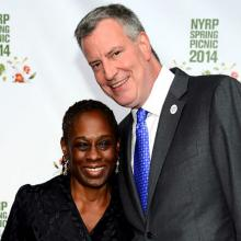 Bill deBlasio and Chirlane Mccray