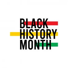 Graphic with Black History Month text