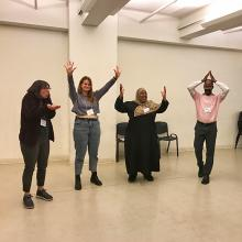 CUNY SPS Students Dance During MAAT and Racial Justice Conference 2019