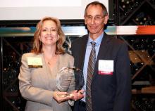 John Mogulescu receiving award