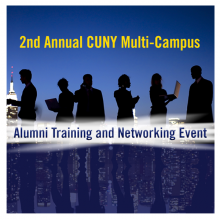 Logo for the multi campus alumni event showing silhouettes of people