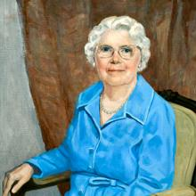 Charlotte W. Newcombe portrait