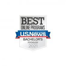 U.S. News & World Report 2021 Bachelor's in Psychology Badge